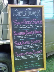 Deli Truck Menu Board