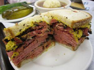 Deli Truck salt beef sandwich