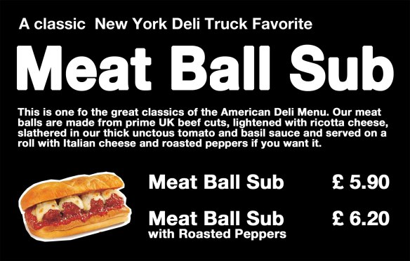 meat ball, Deli Truck,
