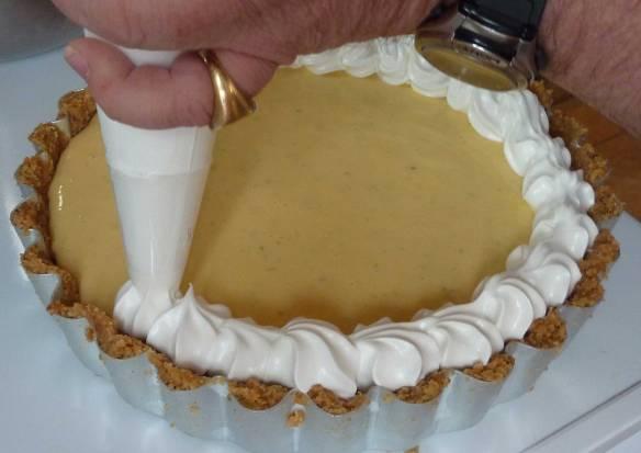 key lime pie, meringue, biscuit base, deli truck,