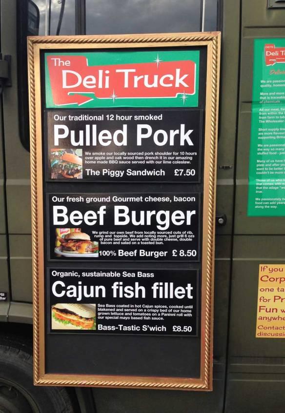 Deli Truck, menu, catering
