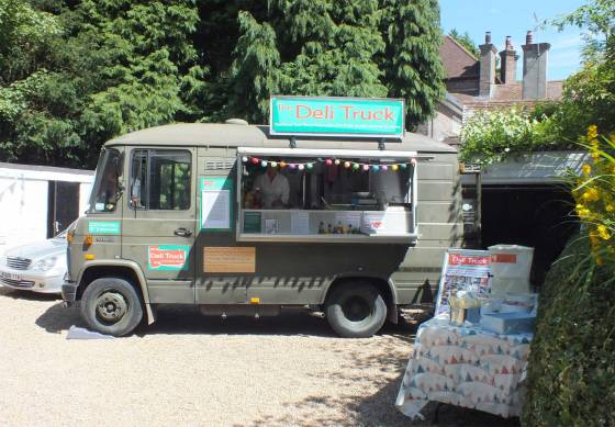 The Truck in position ready for service at a Surrey Garden Party