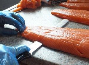 Del Truck, catering, salmon