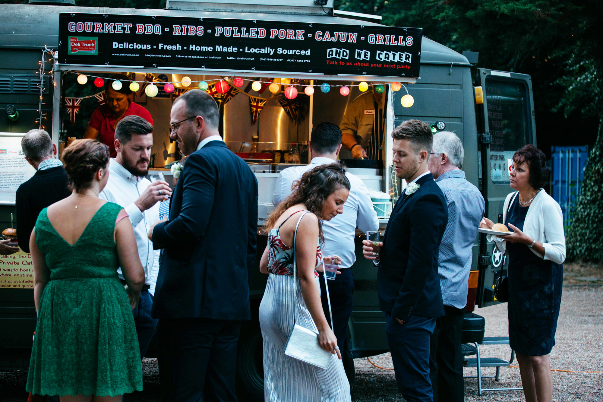Wedding catering, wedding food, deli truck, street food,